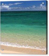 Turquoise Water Of Kanaha Beach Maui Hawaii Acrylic Print