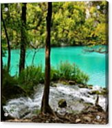 Turquoise Waters Of Milanovac Lake Acrylic Print