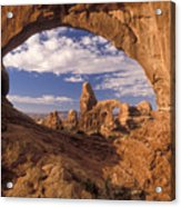 Turret Arch And North Window Acrylic Print