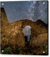 Turret Arch Milkyway, Arches National Park, Utah Acrylic Print