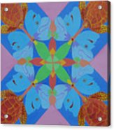 Turtles And Butterfly People Acrylic Print