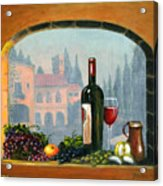 Tuscan Arch Wine Grape Feast Acrylic Print by Italian Art