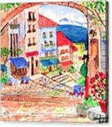 Tuscan Archway II Acrylic Print