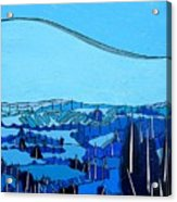Tuscan Blue View Acrylic Print