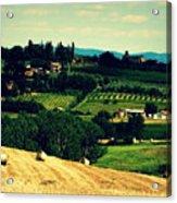 Tuscan Country Acrylic Print