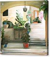 Tuscan Courtyard Detail Acrylic Print