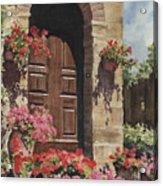 Tuscan Door Acrylic Print