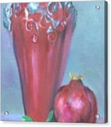 Tuscan Elements -italian Vase With Pomegranate Acrylic Print