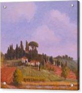 Tuscan Hillside Acrylic Print