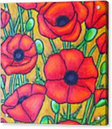 Tuscan Poppies - Crop 1 Acrylic Print