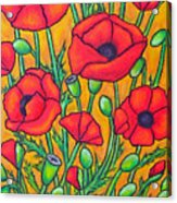 Tuscan Poppies - Crop 2 Acrylic Print
