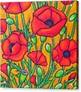 Tuscan Poppies - Crop 2 Acrylic Print