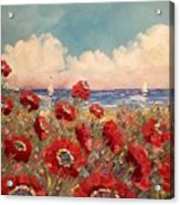 Tuscan Riviera Red Poppies Acrylic Print