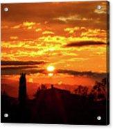 Tuscan Sunset Acrylic Print