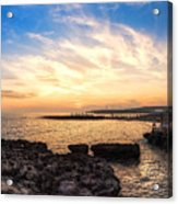 Tuscan Sunset On The Sea In Italy Acrylic Print