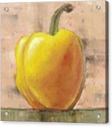 Tuscan Yellow Pepper Acrylic Print