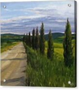 Tuscany Road Acrylic Print by Jay Johnson