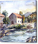 Tuscany Village Acrylic Print