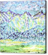Tusheti Hay Meadows Caucasus Mountains I Acrylic Print