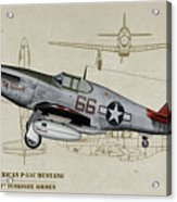 Tuskegee P-51b By Request - Profile Art Acrylic Print