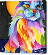 Tutti Fruiti Kitty Acrylic Print