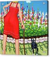 Tuxedo Cat - Edens Garden Acrylic Print