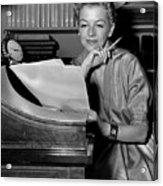 Tv And Big Screen Actress, Betty Furness. 1956 Acrylic Print