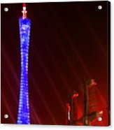Tv Tower At Night Acrylic Print