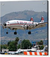 Twa Lockheed Super Constellation N6937c Acrylic Print