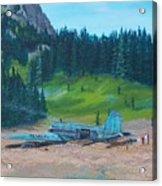 Twa Mountaintop Cabin Acrylic Print