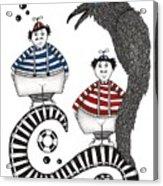 Tweedle-dee Tweedle-dum Acrylic Print