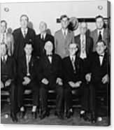 Twelve-man Jury That Convicted Al Acrylic Print by Everett
