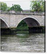 Twickenham Bridge Spans The Thames Acrylic Print