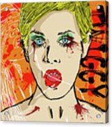 Twiggy Got Jealous Acrylic Print by Sean King