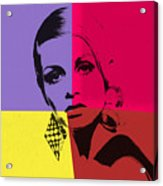 Twiggy Pop Art 1 Acrylic Print