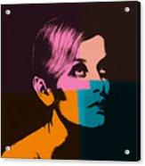 Twiggy Pop Art 2 Acrylic Print