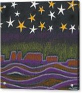Twighlight Over Arizona Horizon Acrylic Print