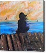 Twilifht On The Dock Acrylic Print