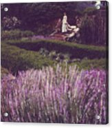 Twilight Among The Lavender Acrylic Print