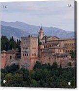 Twilight At The Alhambra Acrylic Print