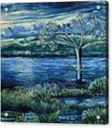 Twilight At The River Acrylic Print