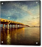 Twilight Biloxi Bridge Acrylic Print