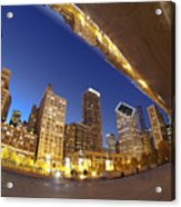 Twilight Chicago Skyline  Acrylic Print