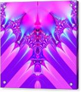 Twilight Descending Fractal Acrylic Print