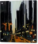 Twilight In Chicago Acrylic Print