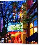 Twilight In Doylestown Borough Acrylic Print