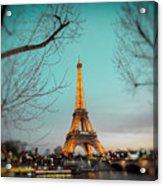 Eiffel Tower At Twilight  Acrylic Print