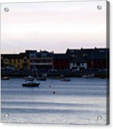 Twilight In The Harbor At Skerries Acrylic Print
