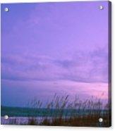 Twilight Moon Over Sand Dunes Acrylic Print