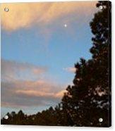 Twilight Moon Over The Hills Acrylic Print